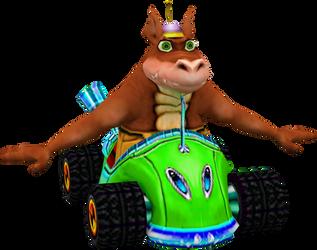 Dingodile (Crash Nitro Kart) Kart Model