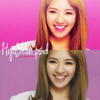 Hyoyeon psd by PinkCarrot