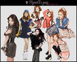 HyunA pngs Pack