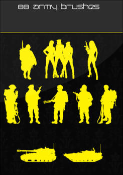 Army Silhoutte Brushes