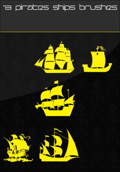 13 Pirates Ships Brushes by urbanAR7