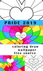Pride 2019 Coloring pack by PriscillaSantanaArts