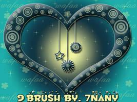 9 brush set _6 by 7nany