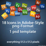 Adobe Style Icons + Template