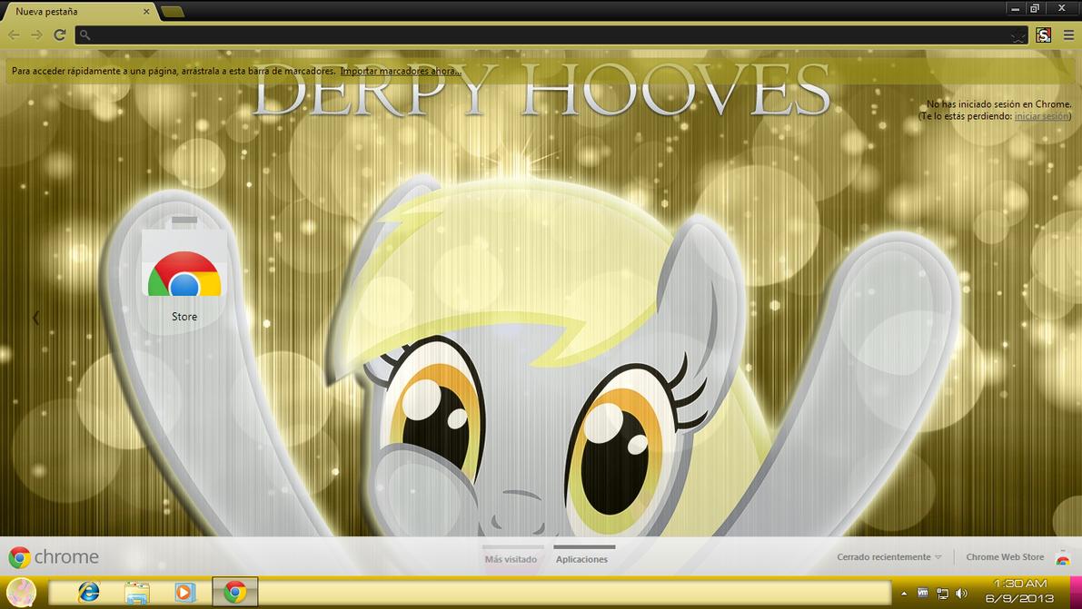 Google chrome themes yellow -  03 Derpy Hooves Theme For Chrome 1366x768 By Ov3rhell3xoduz