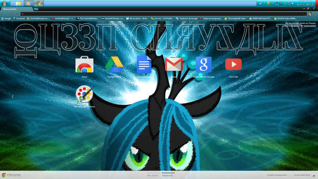 [11] Queen Chrysalis Theme for CHROME (1366x768)
