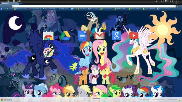 [13] MLP FiM Theme for CHROME (1366x768)