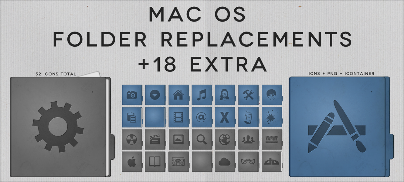 Mac Folder Replacements by midnighttokerkate