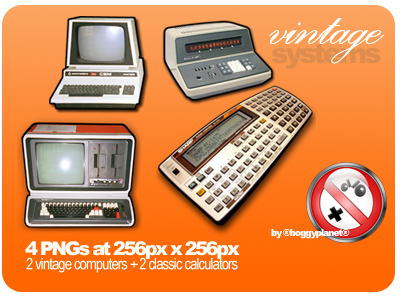 Vintage Systems Dock Icons