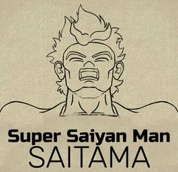 Super Saiyan Man Saitama by tushantin