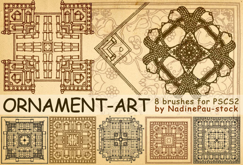 Ornament-art brushes by NadinePau-stock