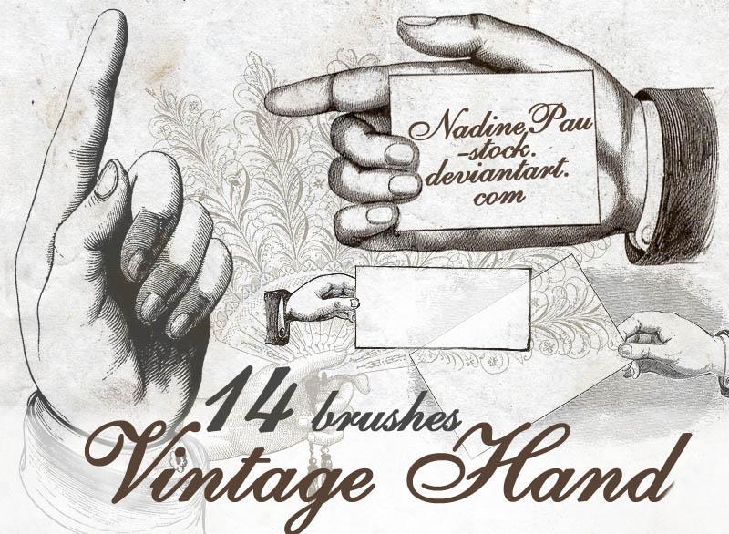 Vintage hand