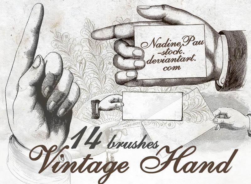 Vintage hand by NadinePau-stock