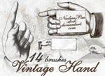 Vintage hand by NadinePau-stock