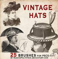 vintage hats - 25 bruses by NadinePau-stock