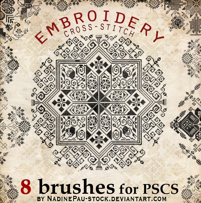 Embroidery a cross-stitch