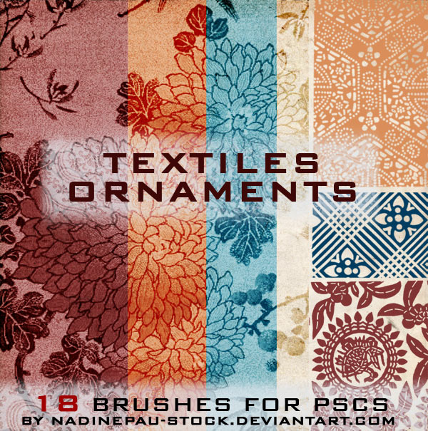 textiles ornaments- 18 brushes