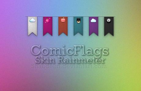 ComicFlags.RainmeterSkin by Ihavethedreamersdise