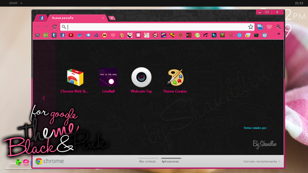 Theme.GoogleChrome.Black and Pink by Ihavethedreamersdise