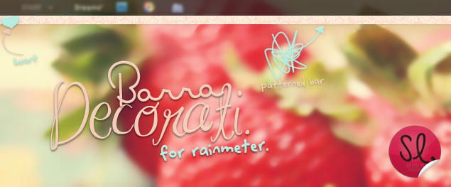 Barra Decorati - Rainmeter. by coral-m