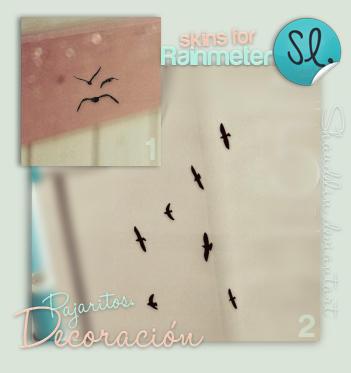 Decoracion Pajaritos - Rainmeter by Ihavethedreamersdise