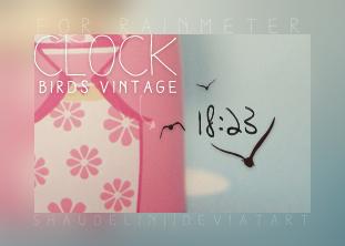Clock - Birds Vintage by coral-m