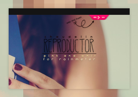 Reproduct Pink - Rainmeter by Ihavethedreamersdise