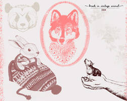 Brush - In Animal Vintage by coral-m