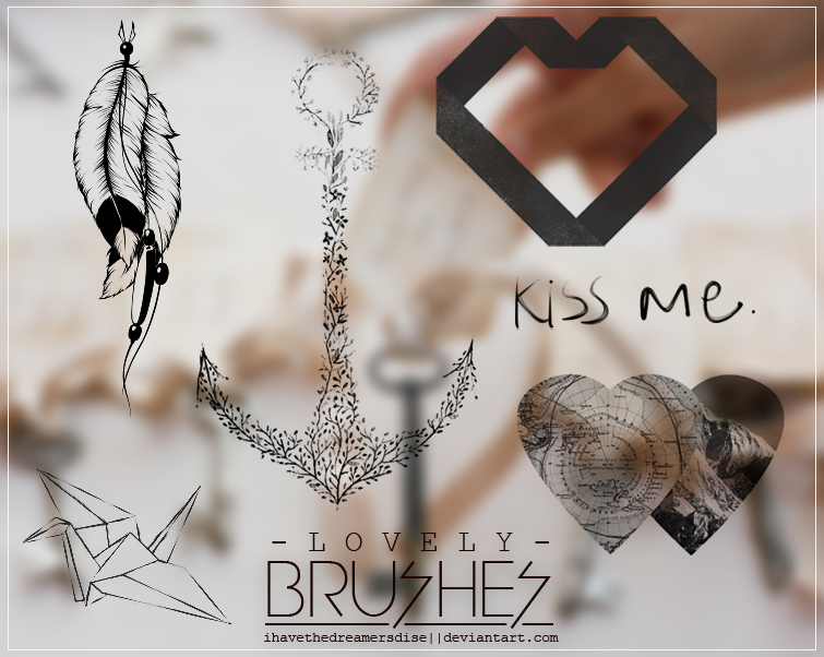 Brushes -  Lovely by Ihavethedreamersdise