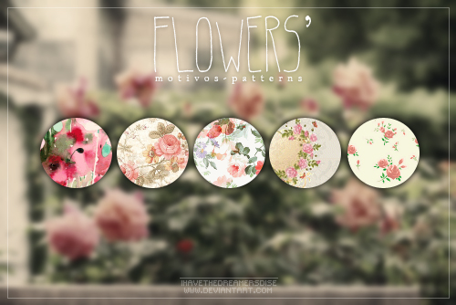 Flowers - Patterns by Ihavethedreamersdise
