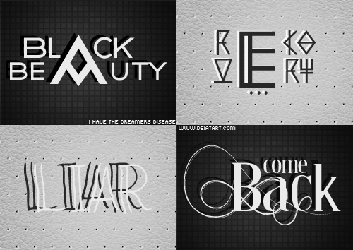 Fonts - Pack 02 by Ihavethedreamersdise
