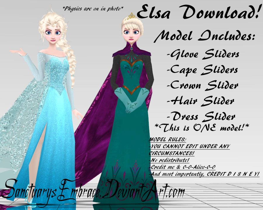 {MMD DOWNLOAD} Elsa (Coronation + Ice Queen) by SanctuarysEmbrace