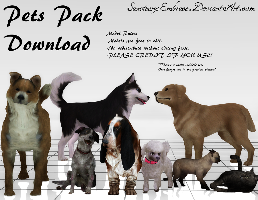 {MMD DOWNLOAD} Pets Pack by SanctuarysEmbrace