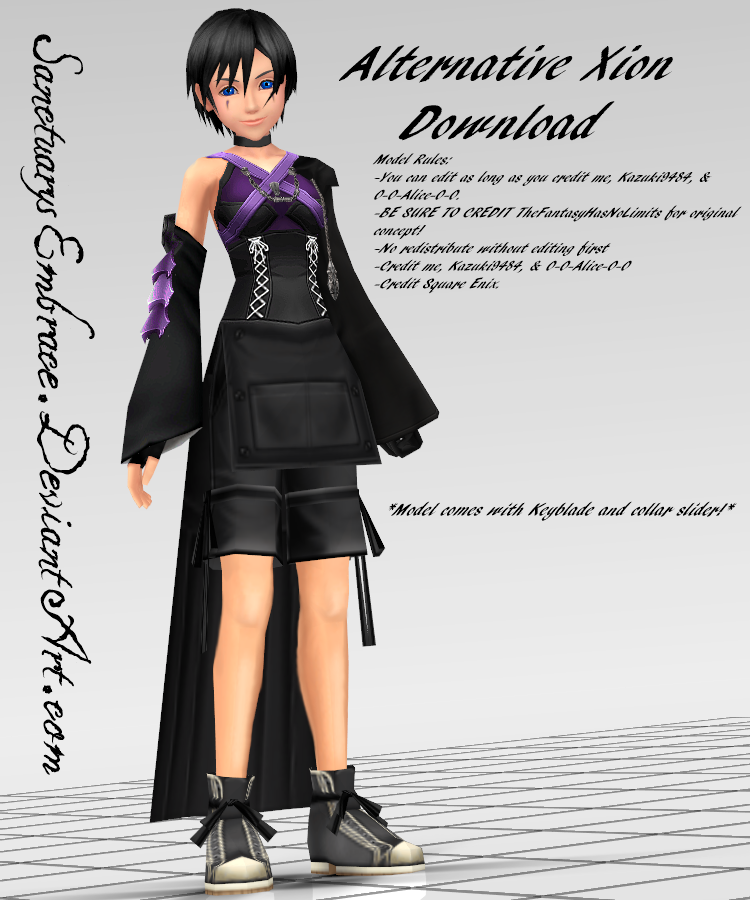 MMD DOWNLOAD} Alternative Xion (KH3?) by MariCorsair on