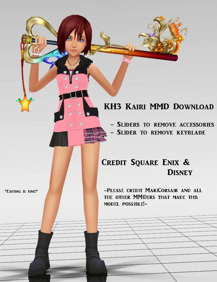 {MMD Download} Kairi (KH3) by MariCorsair