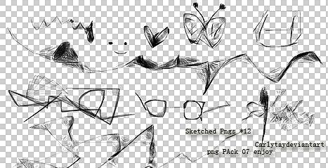Sketched Pngs Pack 12 06