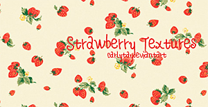 Strawberry Tetxures by Carlytay
