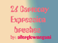 26 Cartoony Expression brushes by goddessoffangirls