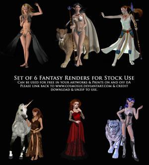 3D Render Fantasy Stock Pack