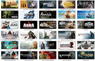 Official Steam Grid Image Collection