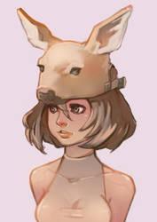 Deer Hat Girl by taho