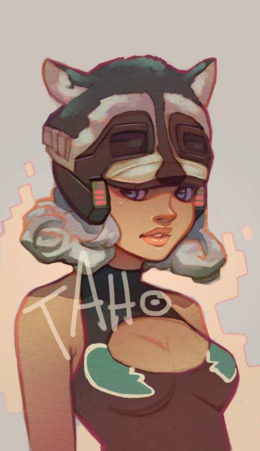 Raccoon Hat Girl