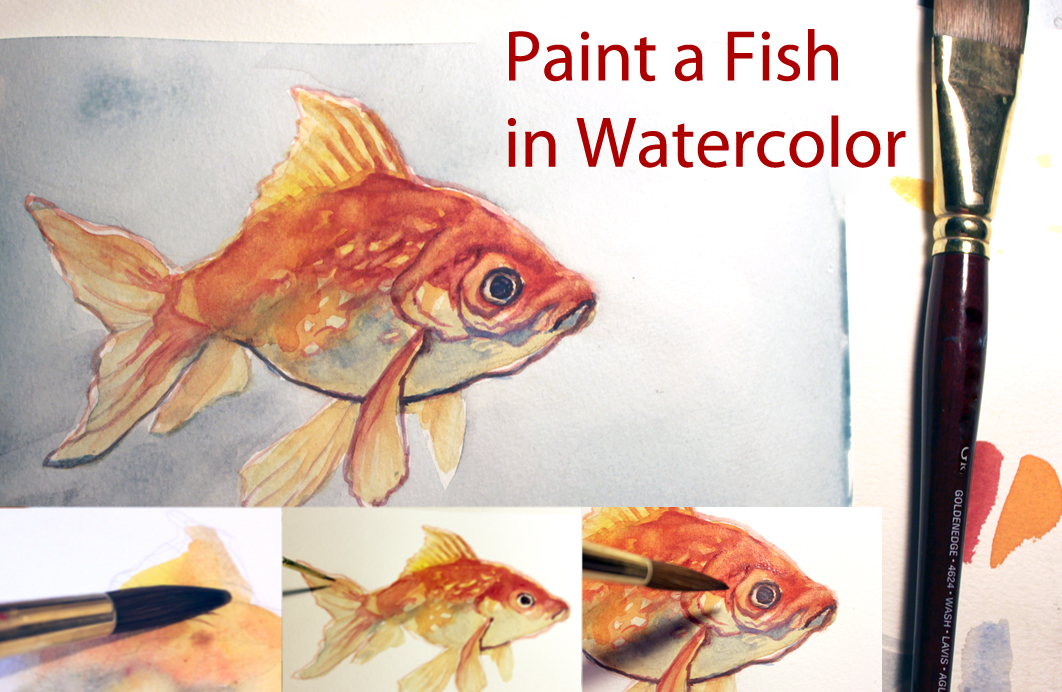 art tutorial paint a fish in watercolor by taho on deviantart
