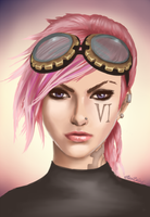 the Piltover Enforcer by HolyCrapolyDoodle