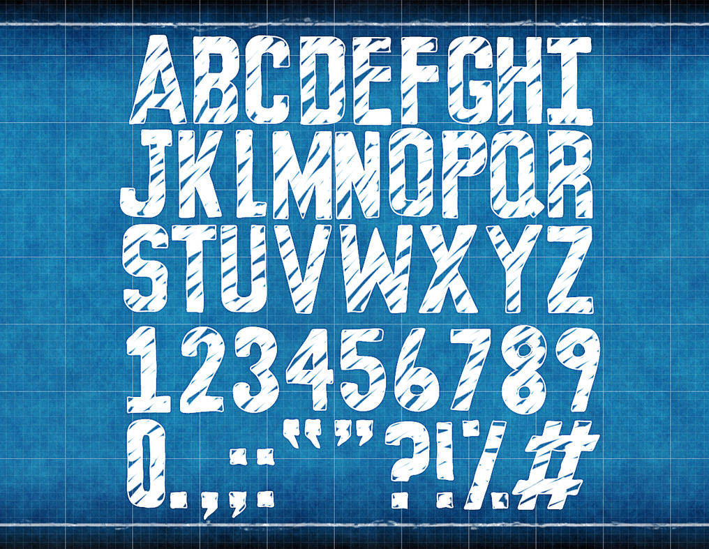 Blueprint font by sedj on deviantart blueprint font by sedj malvernweather Image collections