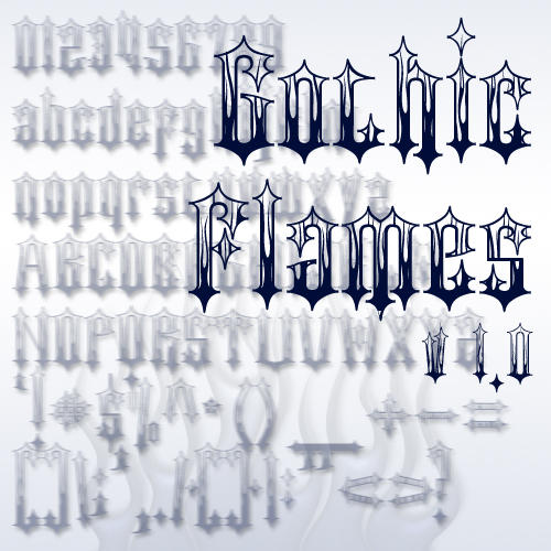 Gothic Flames Font