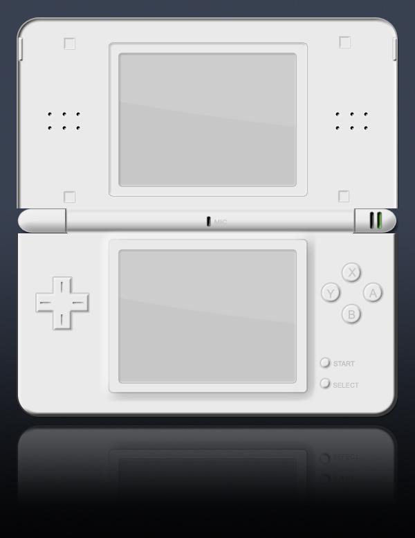 Nintendo DS Lite psd template