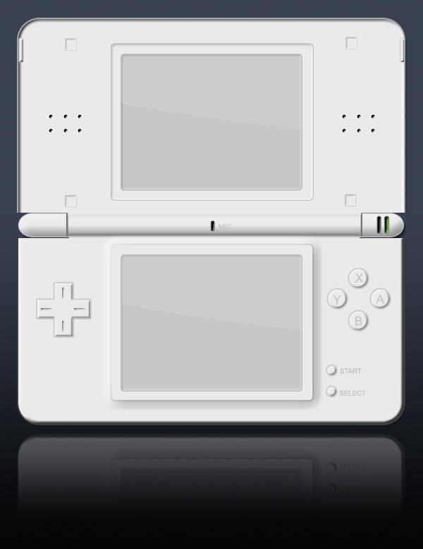 Nintendo DS Lite psd template by jbensch