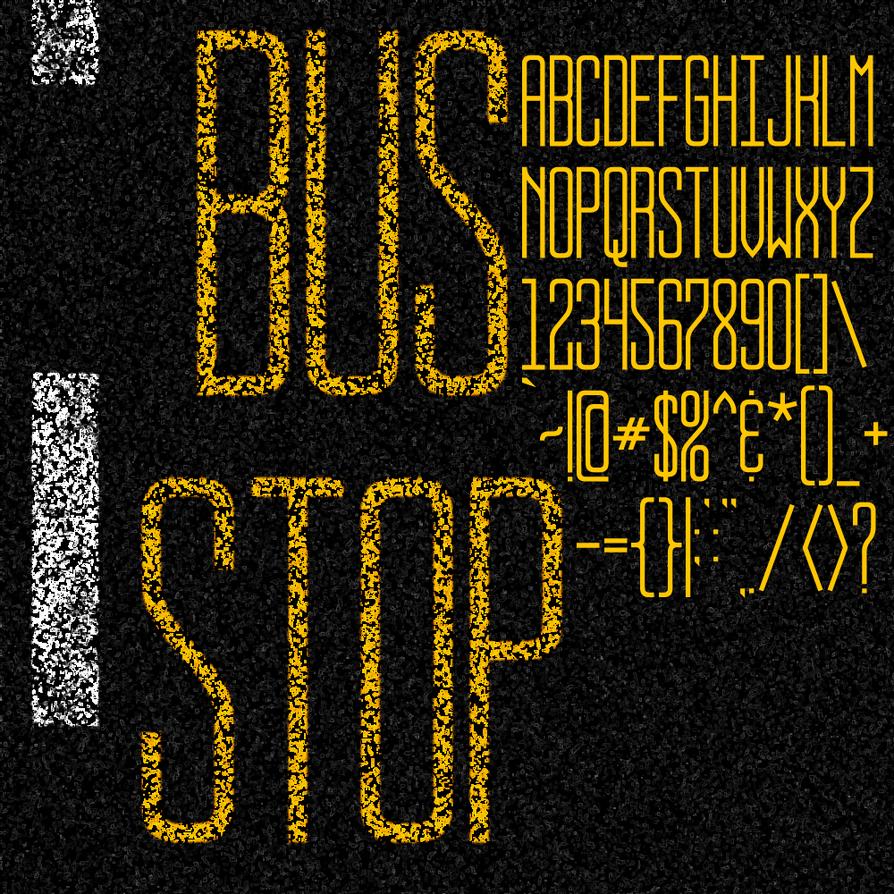 BUS STOP FONT by jbensch