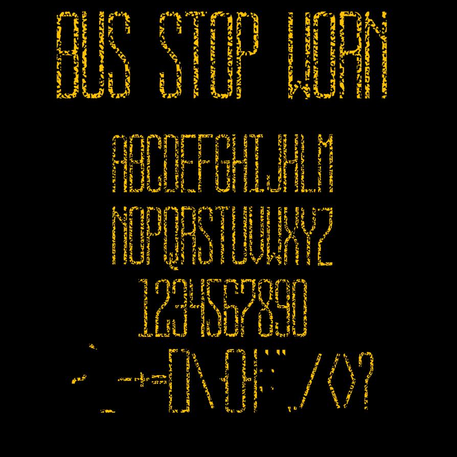 BUS STOP WORN by jbensch